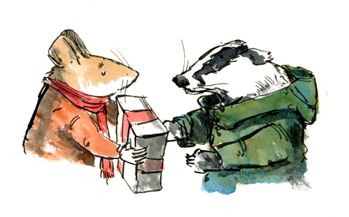 steve-handing-over-present-to-a-badger-fw
