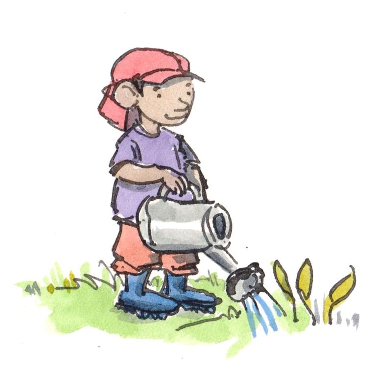 children gardening 2