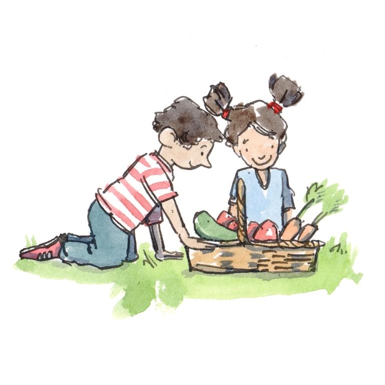 children gardening 3