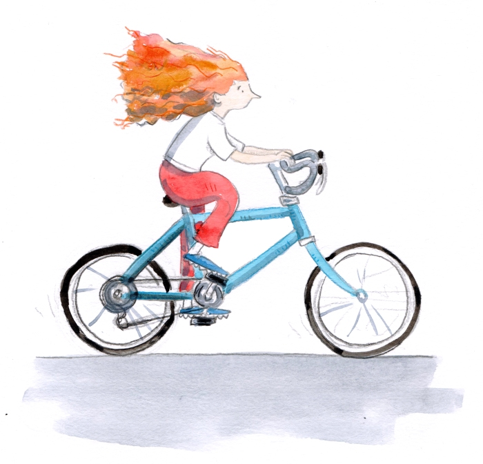 lady cycling 001