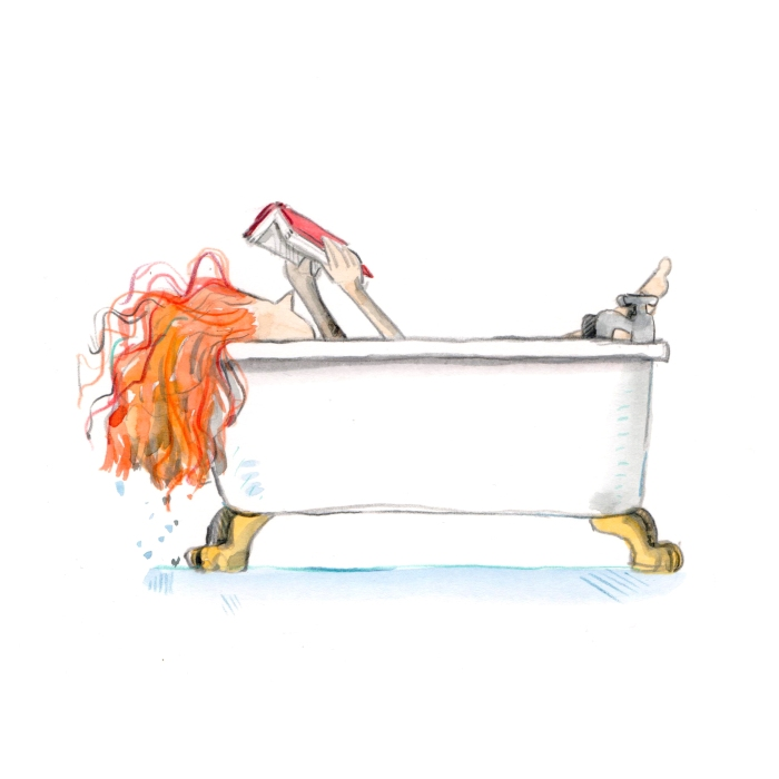 reading in the bath 001