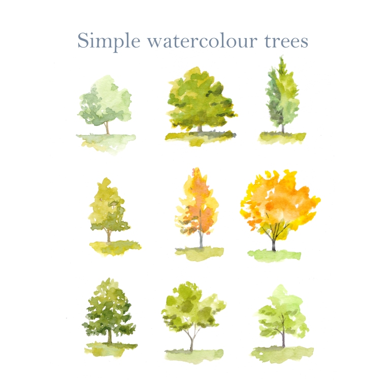 watercolour trees 001