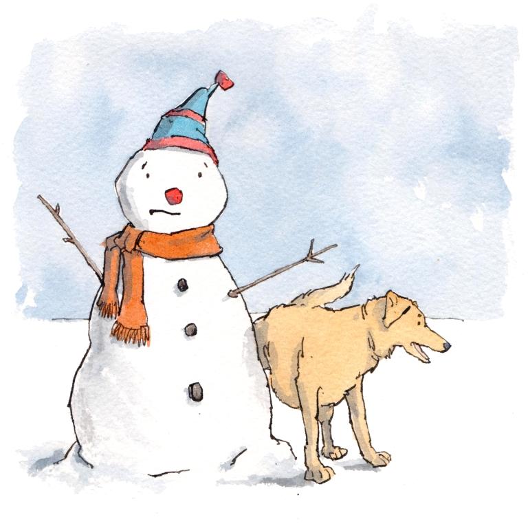 dog snowman 001