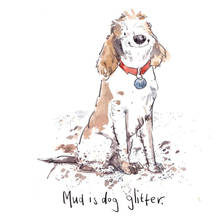 mud is dog glitter small